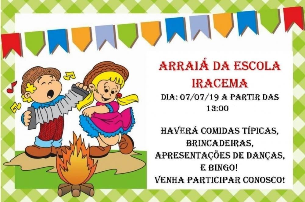 Escola municipal fará tradicional festa julina neste domingo (7)