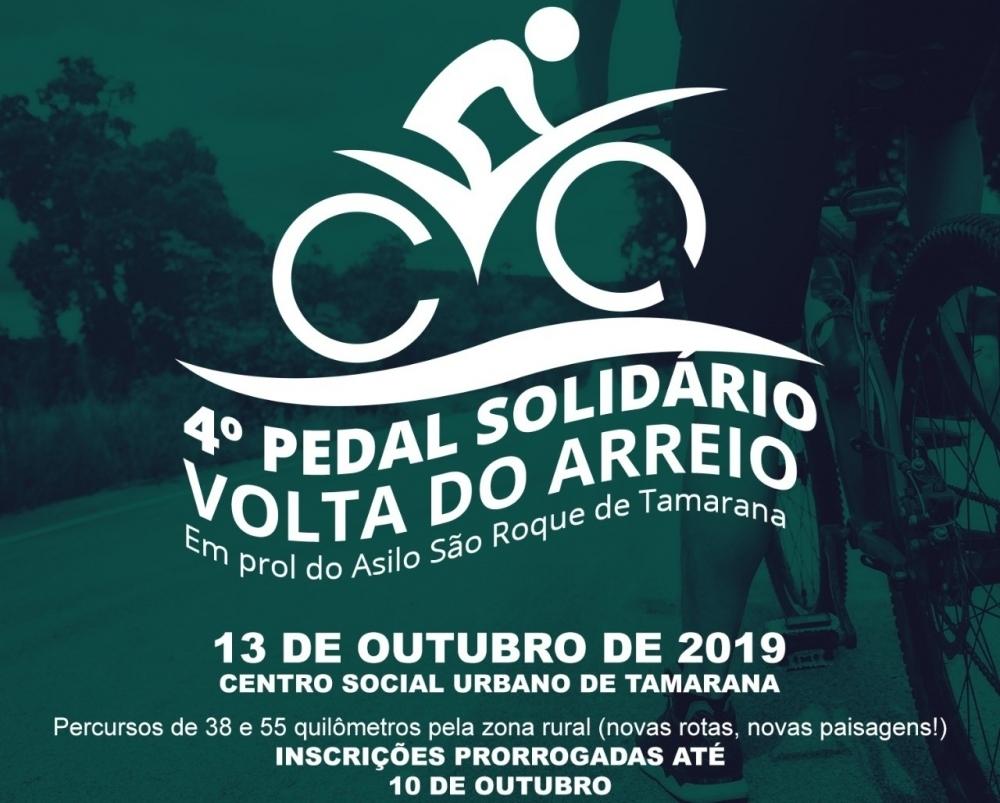 Pedal solidário em Tamarana recebe inscrições até quinta-feira (10)