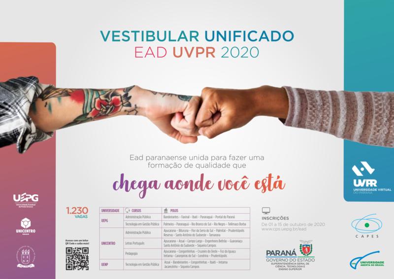 UAB de Tamarana oferta 30 vagas em vestibular para Administração Pública