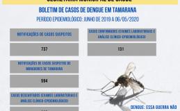 Tamarana não tem confirmações de Covid-19. Por outro lado, 131 pessoas já contraíram dengue nos últimos meses