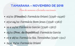 Plantão das farmácias de Tamarana em novembro é divulgado