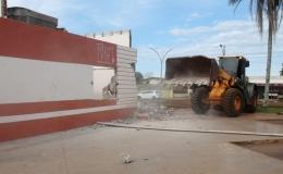 Demolição da Rodoviária de Tamarana está prestes a acabar