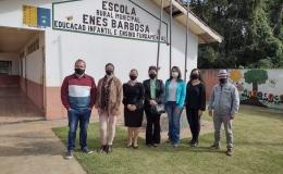 VISITA À ESCOLA MUNICIPAL ENES BARBOSA